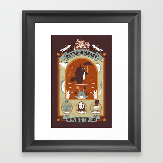 The Moving Circus Framed Art Print