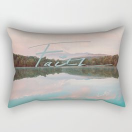 Faith - Smoky Mountains Lake at Dawn Nature Photography Quote Rectangular Pillow