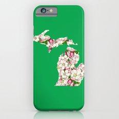 Michigan in Flowers Slim Case iPhone 6s