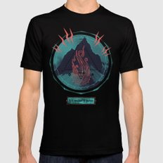 Mountain of Madness LARGE Mens Fitted Tee Black