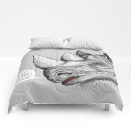 Last Rhino Alive Comforters