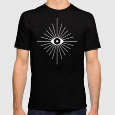 ELECTRIC EYES LARGE Black Mens Fitted Tee