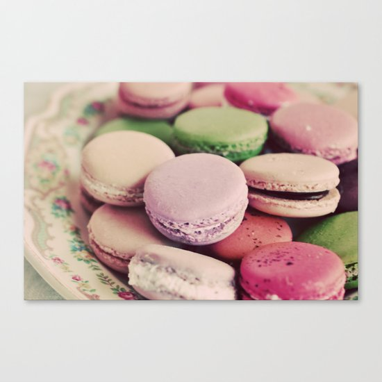 Sweet Macarons Canvas Print