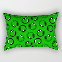 Headphones-Green Rectangular Pillow