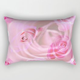 Lovely pink vintage roses for valentine Rectangular Pillow
