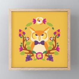 Baltimore Woods Owl - Fall Colors Framed Mini Art Print