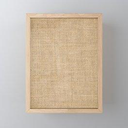 BURLAP Framed Mini Art Print