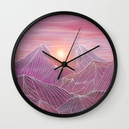 Lines in the mountains 02 Wall Clock