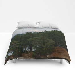 A glimpse at Mount Baker, WA Comforters