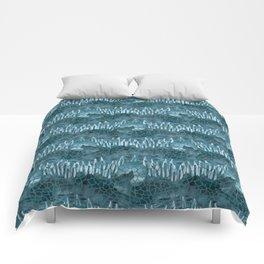 Moonlight Story (Teal) Comforters