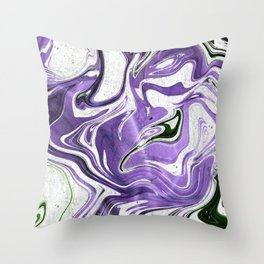 Ultraviolet Marble Throw Pillow