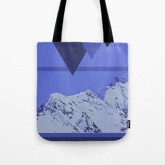 Alaskan Mountains - Periwinkle Tote Bag