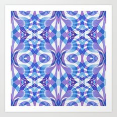 Floral Geometric Abstract G288 Art Print