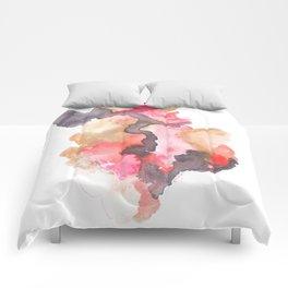 Watercolor Pink Black Gold Flow | [dec-connect] 44. blackblood Comforters
