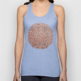 Rose Gold Burst Unisex Tank Top