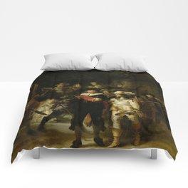 """Rembrandt Harmenszoon van Rijn, """"The Night Watch"""", 1642 Comforters"""