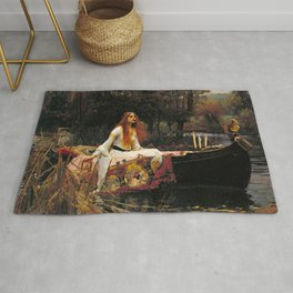 The Lady of Shalott - John William Waterhouse Rug