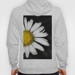 White daisy floating in the dark #3 Hoody