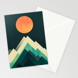 Ablaze on cold mountain Stationery Cards