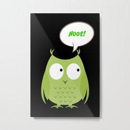 Owl Cartoon - Hoot Metal Print