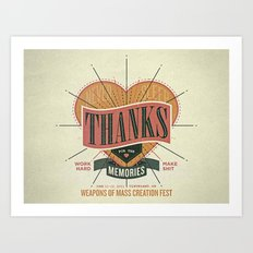 Thanks for the Memories Art Print