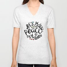 Peace Not War Unisex V-Neck