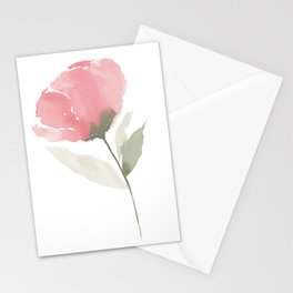 Single Pink Flower Stationery Cards