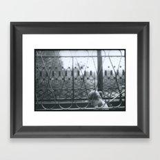 Girl Walking Framed Art Print