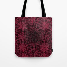 Pink Halftone Flowers Tote Bag