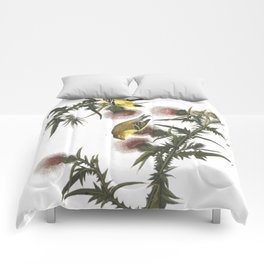 Goldfinch And Thistle Comforters
