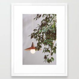 Lamp & Plant Framed Art Print