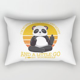 Mostly Peace Love Light And A Little go F You Rectangular Pillow