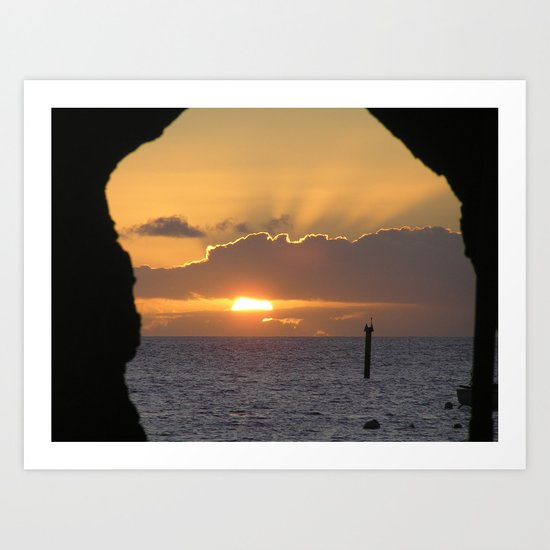 Maui Hawaii - Hana Beach Sunset Art Print