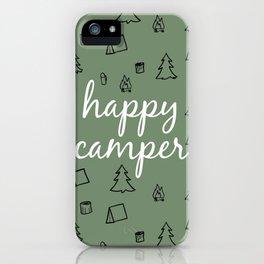Happy Camper in Fern Green iPhone Case