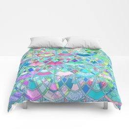 Art Deco Watercolor Patchwork Pattern 2 Comforters
