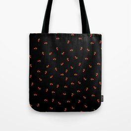 Dark Delicate Cherry Tote Bag