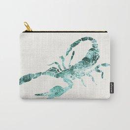 Green Shibori Scorpion  Carry-All Pouch