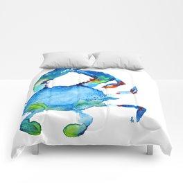 Blue Claw Crab - Nautical - Summer - Ocean - Sea Life Comforters