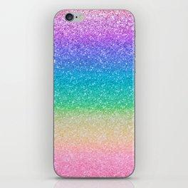 Rainbow Glitter iPhone Skin