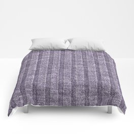Lilac Jersey Knit Pattern Comforters