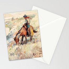 The Cow-puncher - William Herbert Dunton Stationery Cards