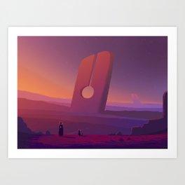 PHAZED PixelArt 7 Art Print