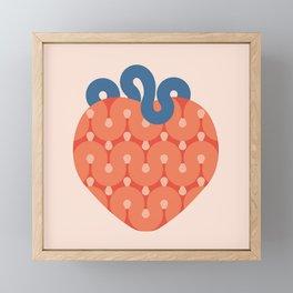 Strawberry Framed Mini Art Print