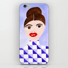 Checked Woman iPhone Skin
