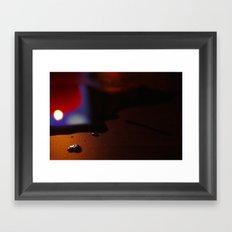 Encre brûlée II Framed Art Print