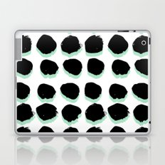 Abstract painted Dots minimal black and white Laptop & iPad Skin