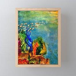 Fish Swarm Framed Mini Art Print