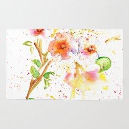 Little Garden Watercolor Rug