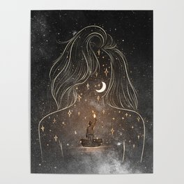 I see the universe in you. Poster
