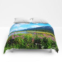 God's Country - Summer in Alaska Comforters